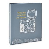 Álbum Photo Lovers Folha Preta 160 Fotos 10x15 Cinza - Ical