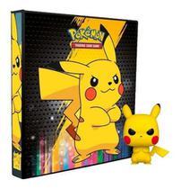 Álbum Pokémon Fichário Pikachu +10 folhas de 9 bolsos cada Y.E.S + Funko Pop! Grumpy Pikachu -
