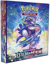 Álbum Pokémon Pasta Fichário - Espad@ & Escudo - Estilo de Batalha + 10 folhas com 9 bolsos Y.E.S - Pokémon Company
