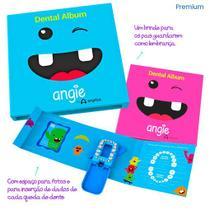 Álbum Porta Dente de Leite AZUL Estojo Porta Dente de Leite Caixinha para dente de Leite Porta Dentes de Leite Infantil - Angie By Angelus