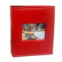 Álbum Prestige Folhas Preta Janela 200 Fotos 10x15 Vermelho - Ical