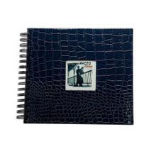 Álbum Scrapbook Craquelado Azul 15X21 cm para 20 Fotos - Square Center