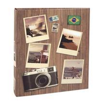 Álbum Viagem 200 Fotos 10x15cm Com Ferragem - Ical 586 -