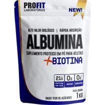 Albumina + Biotina Refil Stand-Up  - 1000g Morango - ProFit - PROFIT LABORATÓRIO