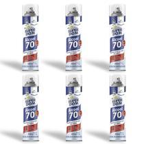 Álcool 70% INPM Aerossol Spray 300ml 170g Super Dom Kit c/ 6 -