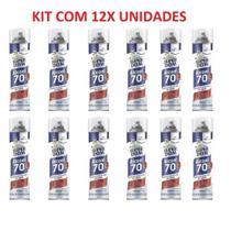 Alcool 70 Spray Aerossol para Higienização 300ml Kit C/ 12 Latas - Dom Line