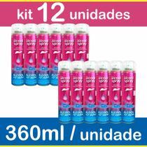 Alcool 70 Spray Kit 12 Frascos Antisséptico Higienizante 360ml - Aerossol - Chesy