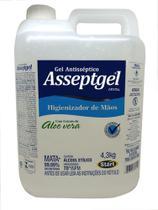 Alcool em gel  70% antisséptico Asseptgel 4,3kg -