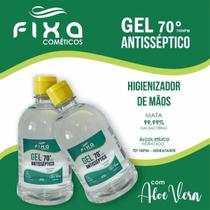 Álcool Em Gel 70% Antisséptico Hidratante 500ml Aloe Vera - Fixa Cosmeticos