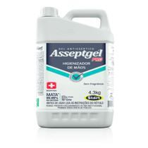 Álcool em gel asseptgel pro sem aloe vera - 4,5kg - Start
