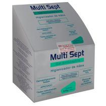 Álcool em Gel Multisept Antisséptico Higienizante para as Mãos Refil 700ml - Álcool 70%. Para Saboneteira Exaccta. - Trilha
