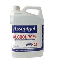 Álcool Etílico Hidratado 70% Inpm 5 Litros Líquido Star - Star Quimica