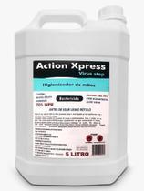 Álcool Gel 70% Antisséptico, Bactericida 5 Litros E Anvisa - Action Xpress