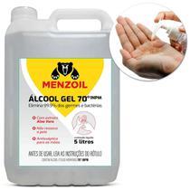 Álcool Gel 70% INPM Etílico Antisséptico Aloe Vera Galão 5 Litros - Prime