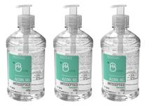 Álcool Gel 70º BClean 500mL / 440g Pump (Kit com 3 unidades) - B. Brazil