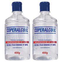 Álcool Gel Higienizador De Mãos 70 Coperalcool 400G - 2 Unidades -