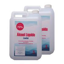 Álcool Líquido 70% Anti-séptico 5 LITROS (2 UNIDADES) - Lew Gel