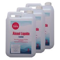 Álcool Lìquido 70% Anti-séptico 5 LITROS (3 unidades) - Lew Gel