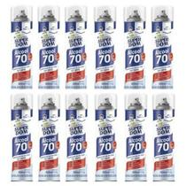 Álcool Spray 70 Aerossol Super DOM 300ML Kit 12 Unds -