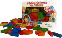 Alfabeto Colorido Em Madeira - Editora fundamental