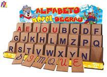Alfabeto Móvel Degrau Com 130 Peças Em MDF - Simque