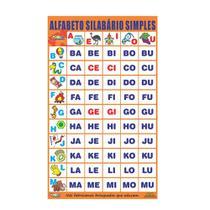 Alfabeto  silabário simples - Embalagem plástico bolha - Carlu brinquedos