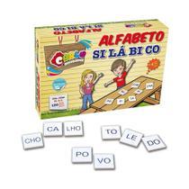 Alfabeto Silábico 150 Pecas - MDF - Cx. Papel - Carlu brinquedos
