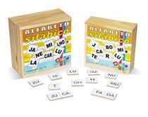 Alfabeto silábico 350 peças - MDF - Caixa de madeira - Carlu brinquedos