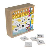 Alfabeto Silábico Brinquedo Educativo Carlu 150 Peças -