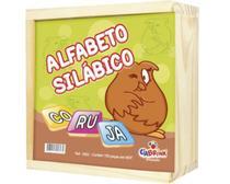 Alfabeto Silábico com 165 Peças Cx em Madeira - Ciabrink