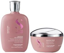 Alfaparf Semi Di Lino Kit Moisture Shampoo (250ml) e Máscara (200ml) -