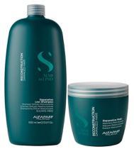 Alfaparf Semi Di Lino Kit Reconstruction Shampoo (1000ml) e Máscara (500ml) -