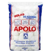 Algodão de Bolas 50g - 20 unidades - Apolo -