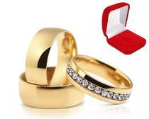 Aliança 6mm Banhado Ouro 18k Casamento Noivado Namoro - Jewelery