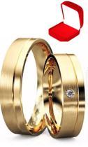 Alianças Banhada Ouro 18k Casamento Tradicional Noivado Anel - Jewelery