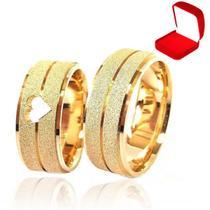 Alianças Casamento Banhada Ouro 18k  Tradicional Noivado Anel - Jewelery