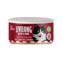 Alimento Livelong Gatos Delícias De Carnes Lata 150g -