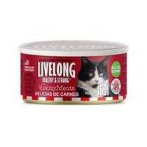 Alimento úmido Gatos sabor Delícias De Carne 150gr - Livelong -