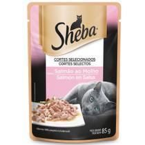 Alimento Úmido para Gatos Adultos Sheba Salmão ao Molho -