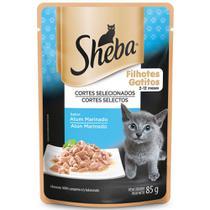 Alimento Úmido para Gatos Filhotes Sheba Atum Marinado -