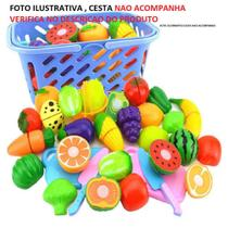 Alimentos/Vegetais de Brinquedo Reutilizável para Cortar / Brinquedo de Cozinha EDUCATIVA - Gfone