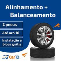 Alinhamento + Balanceamento + Instalação de 2 pneus - Car10