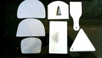 Alisador Pasta Americana + 6 Espátulas + Bico 1 M Grande - Kit Carving Studio