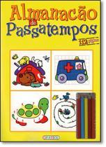 Almanacão de Passatempo - Com Lápis de Cor - Girassol