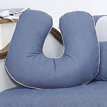 Almofada Amamentação 300 Fios Chambray Azul Jeans - Aime