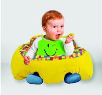 Almofada Apoio Segura Bebê Sentar Puff Berço Portatil Lego - Dindinha Kids