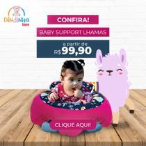 Almofada Apoio Segura Bebê Sentar Puff Berço Portatil Lhamas - Dindinha Kids
