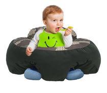 Almofada Apoio Segura Bebê Sentar Puff Berço Portatil Verde - Dindinha Kids