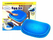 Almofada Assento Gel Silicone Escaras Cóccix Ortopédico Egg Sitter - Supermedy -