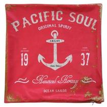 Almofada Aveludada Pacific Soul Vermelha 45 x 45cm - Urban